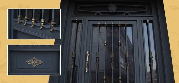 Puertas de forja chimeneas carlos renedo talleres metalicos en la rioja somos fabricantes - Puertas de hierro ...
