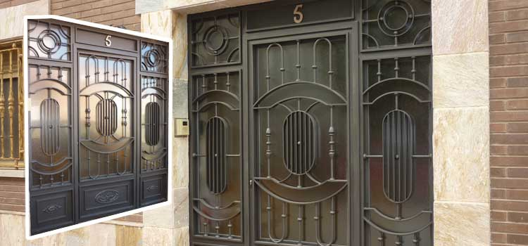 Puertas de forja chimeneas carlos renedo talleres - Puertas de hierro para exteriores ...